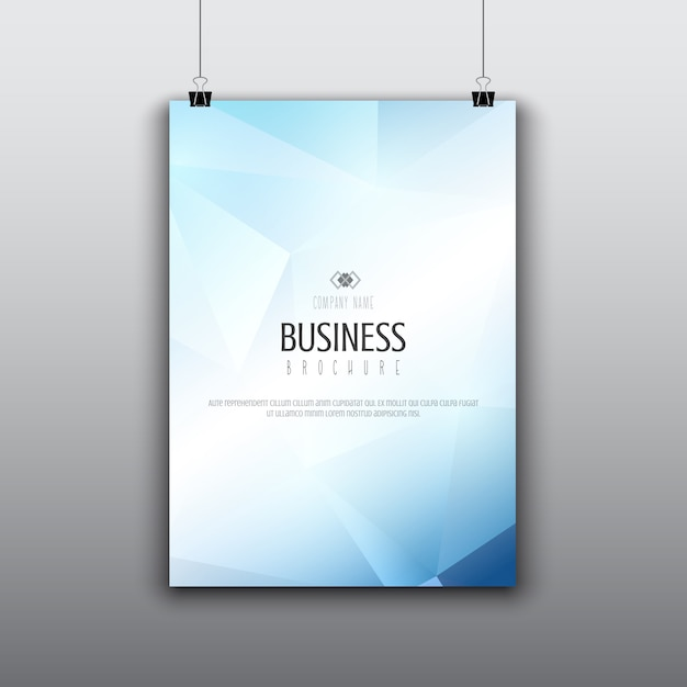 Modern brochure design with low poly design Free Vector