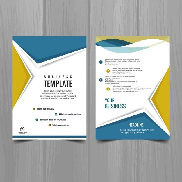 Modern brochure design vector free download for Brochures design templates