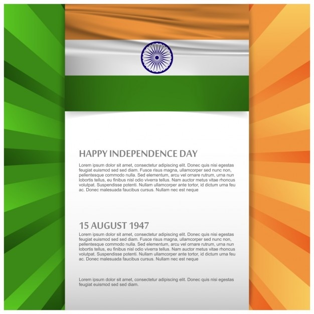 Modern brochure for the independence day of india