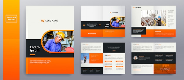 Modern brochure pages Premium Vector