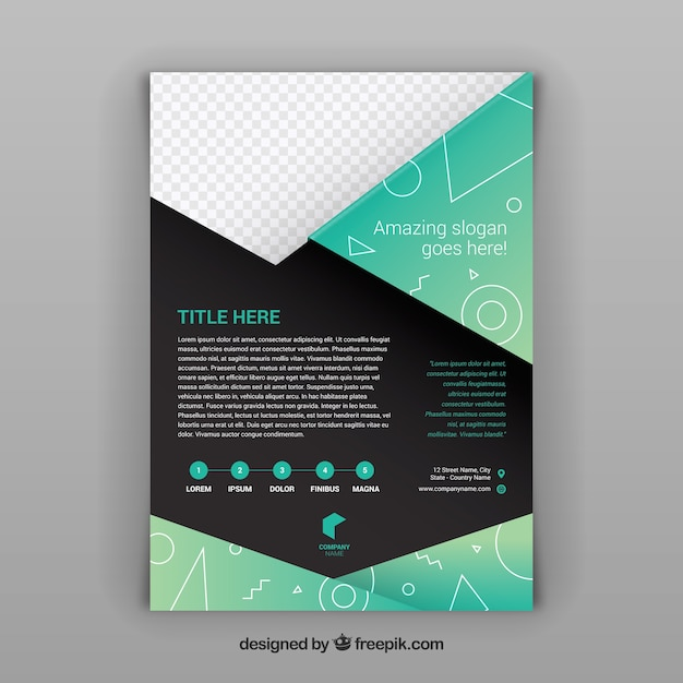 Modern Brochure Template With Geometric Shapes Vector Free Download