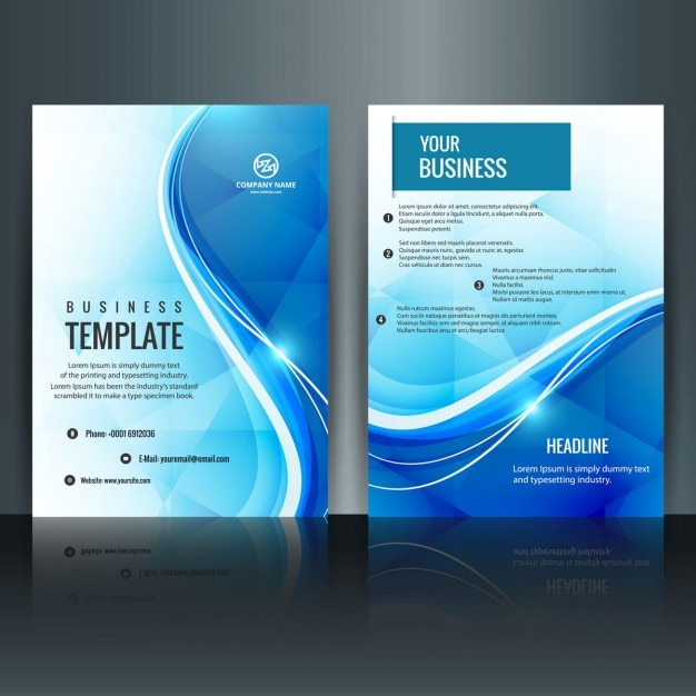 Modern brochure template Vector – Word Cover Page Template Free