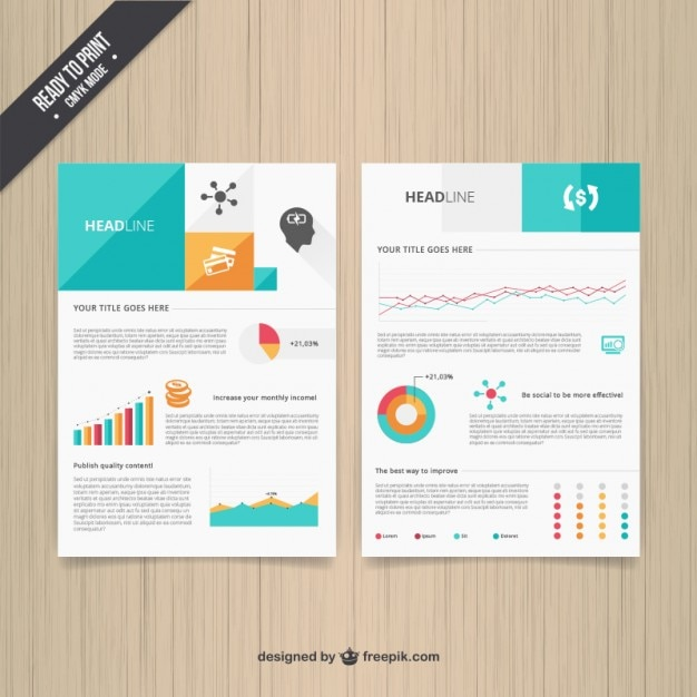 Modern brochure template vector free download for Modern brochure design templates