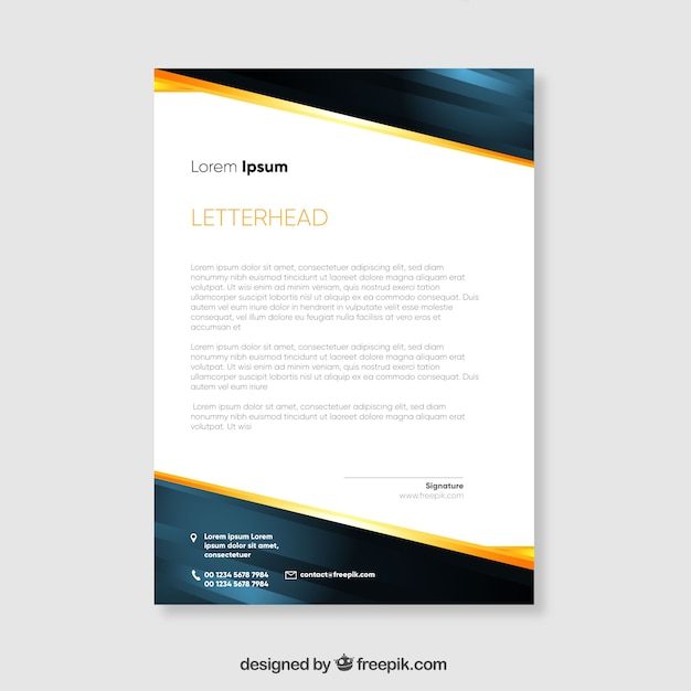 Modern brochure with abstract shapes