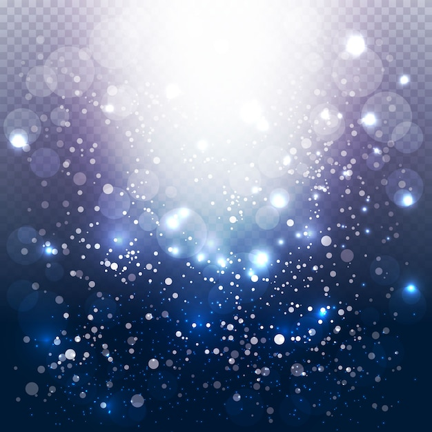 Modern bubble lights background Free Vector