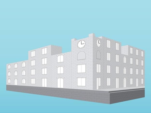 Modern buildings 3d illustration