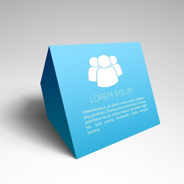 Современный бизнес фон с синим макетом визитной карточки Бесплатные векторы