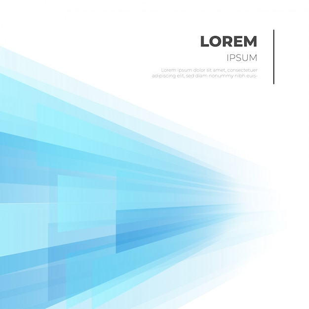 Modern business background with blue shapes Free Vector