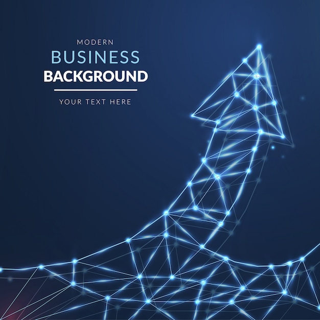 Modern business background with light arrow Free Vector