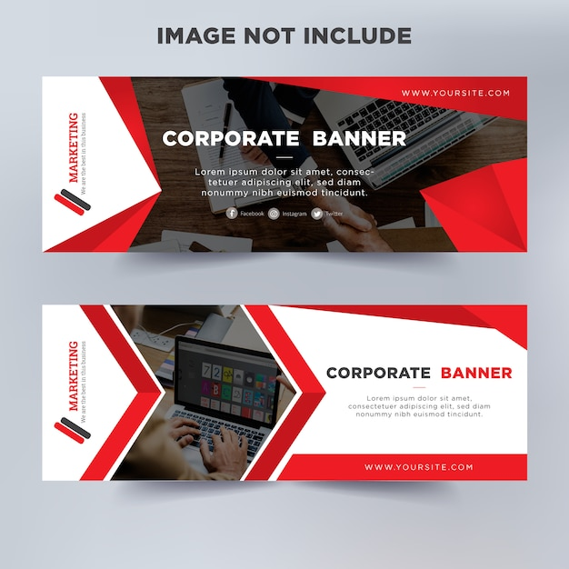 Modern business banner template Premium Vector
