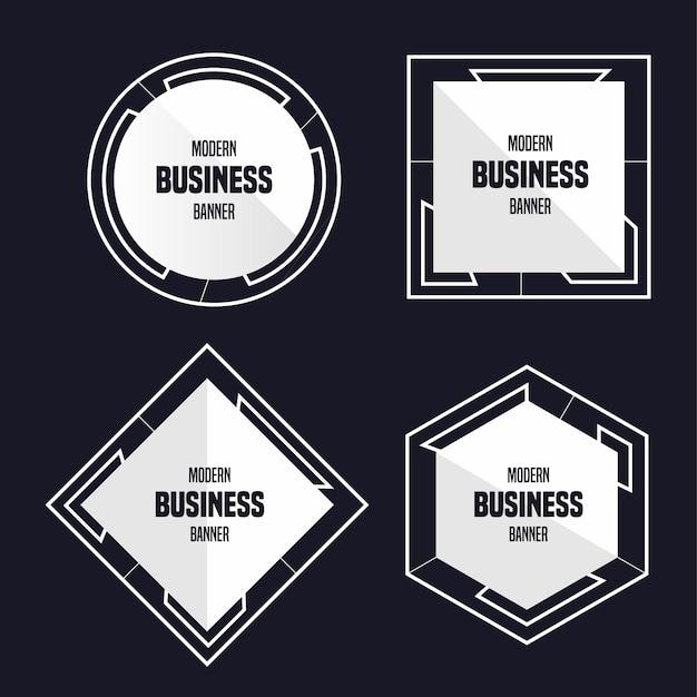 Modern business banner Free Vector