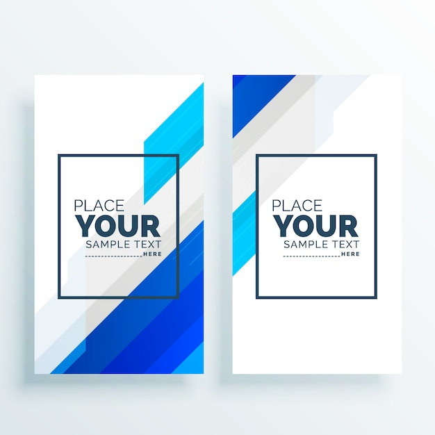 Modern business banners set background Free Vector