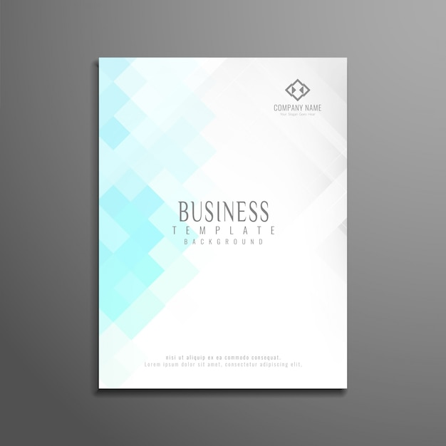 Modern business brochure design mosaic style