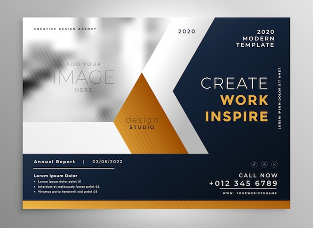 Modern business brochure template design Vector | Free ...