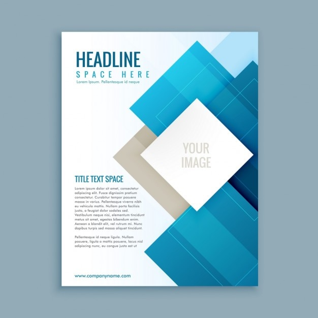 Modern business brochure template vector free download for Free business brochures templates