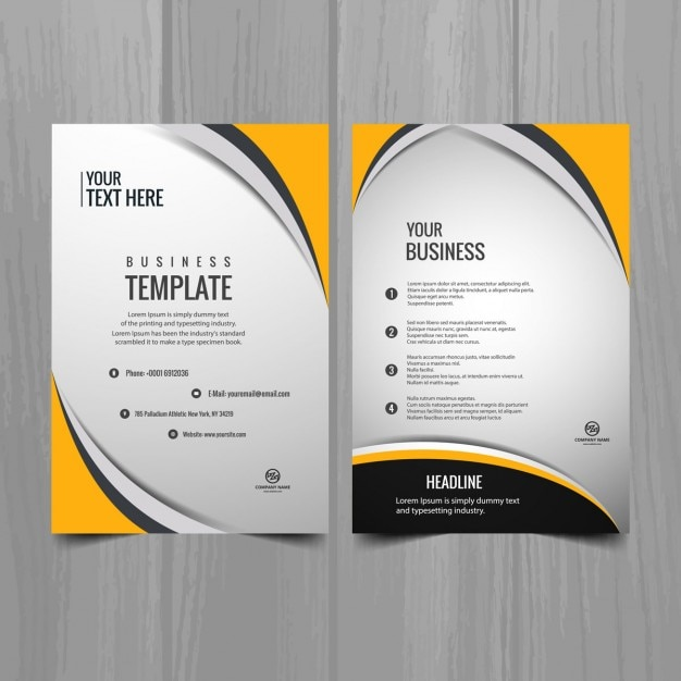 Modern business brochure template vector free download for Download free brochure templates