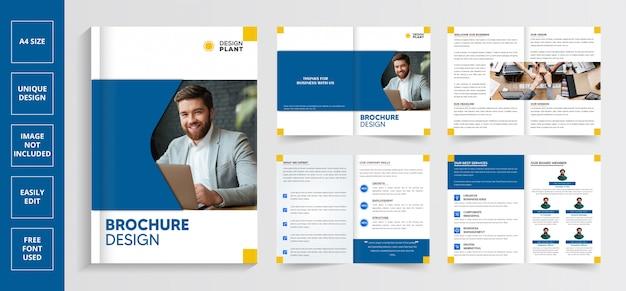 Современный бизнес шаблон брошюры Premium векторы