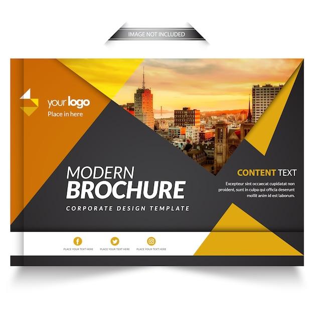 Modern business brochure template Premium Vector