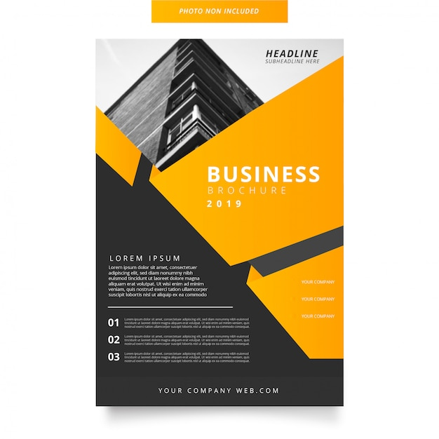 Modern business brochure with abstract shapes Free Vector