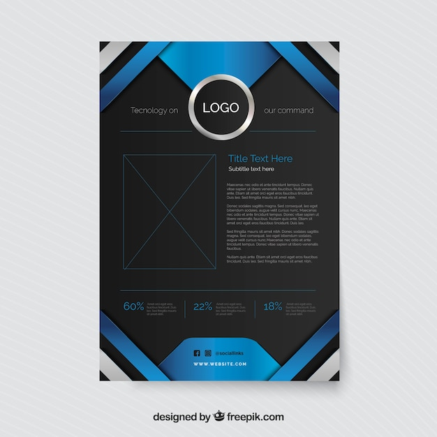 Modern business brochure with abstract stripes