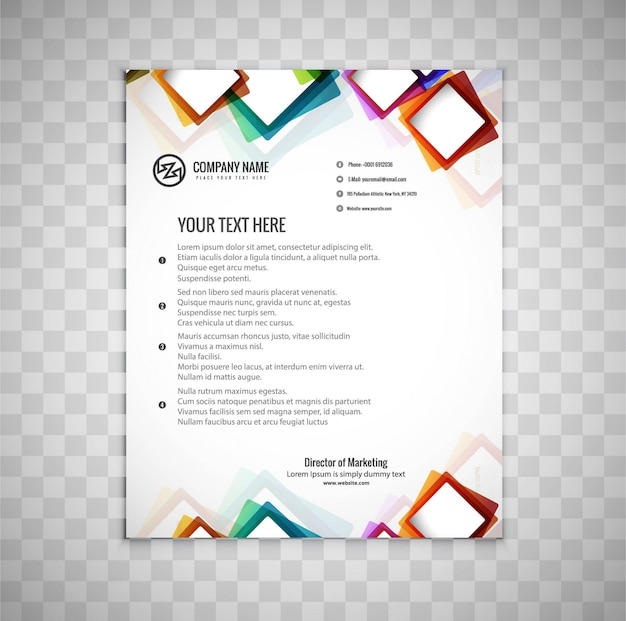 Modern business brochure with colorful rectangular shapes