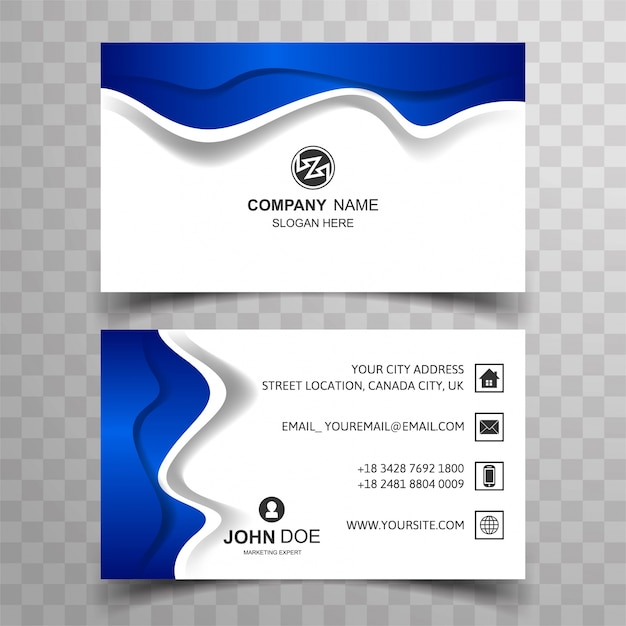 Modern business card background vector free download modern business card background free vector reheart Gallery
