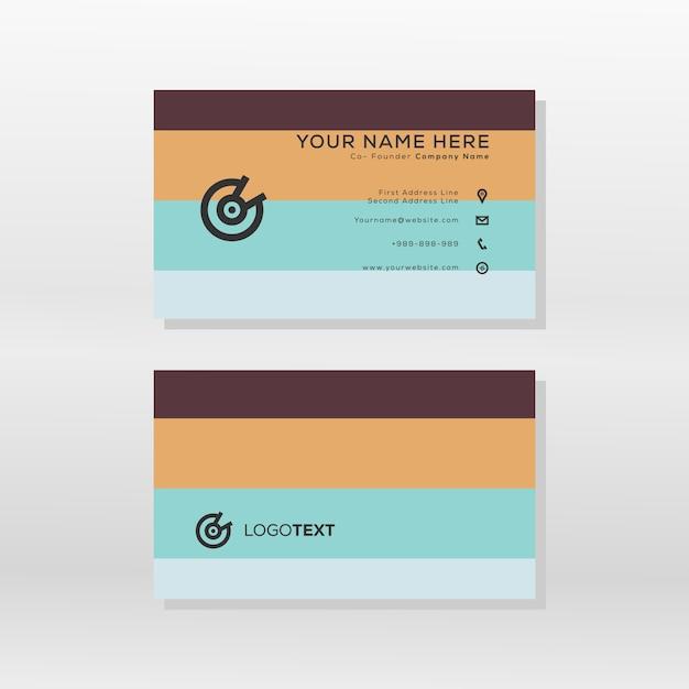 Modern business card color pallete style Premium Vector