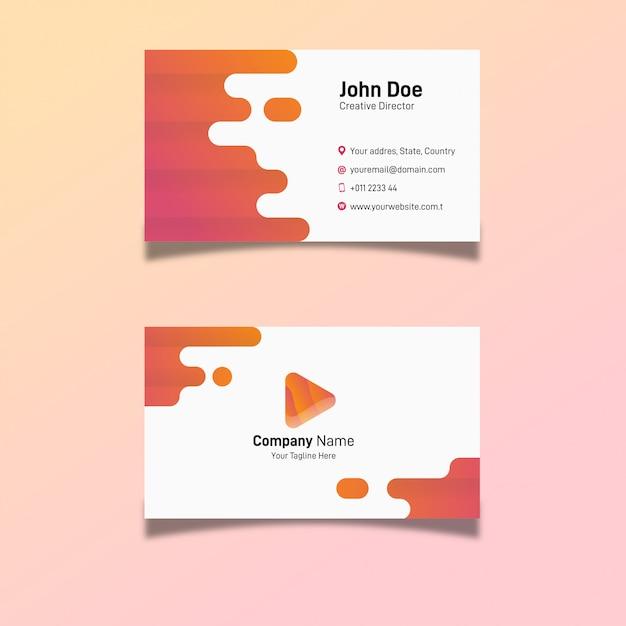 Modern business card creative company Premium Vector