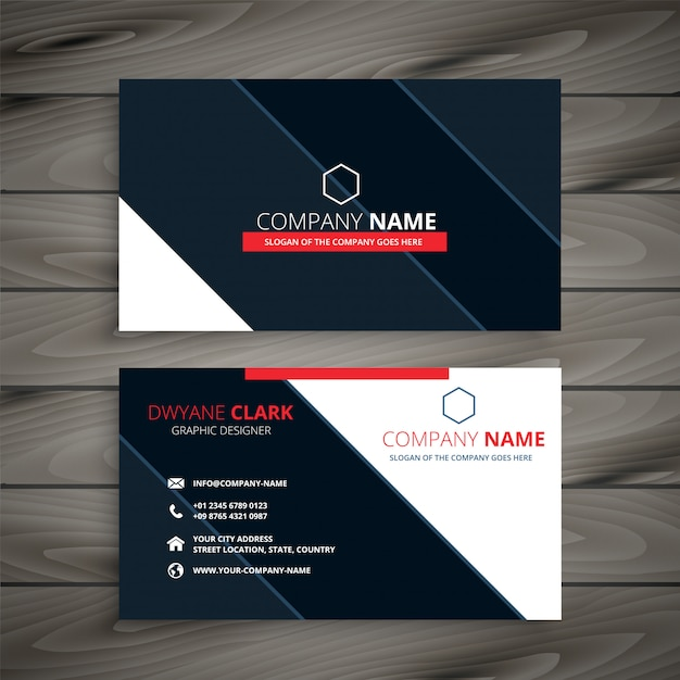Modern business card design template vector free download modern business card design template free vector cheaphphosting Images