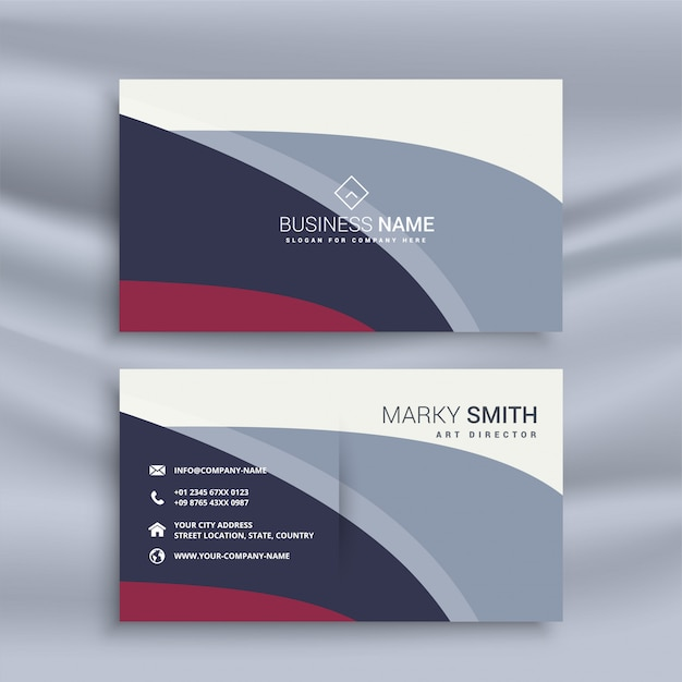 Modern business card design template vector free download modern business card design template free vector accmission Gallery