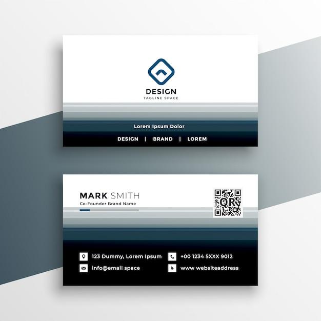 Modern business card design template Free Vector