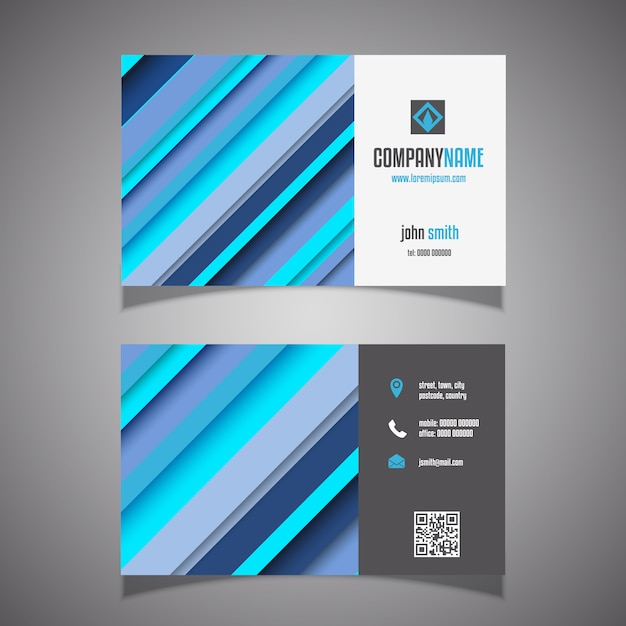Modern business card design Free Vector