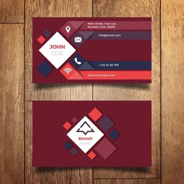 Modern business card design vector free download Blueprint designer free