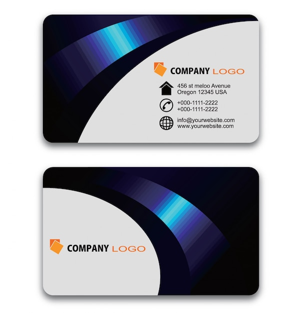 Modern business card design Premium Vector