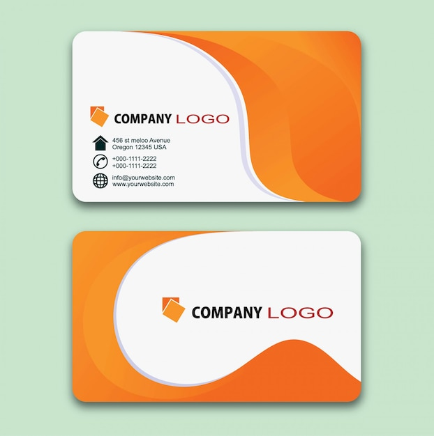 Modern business card design Premium Vector