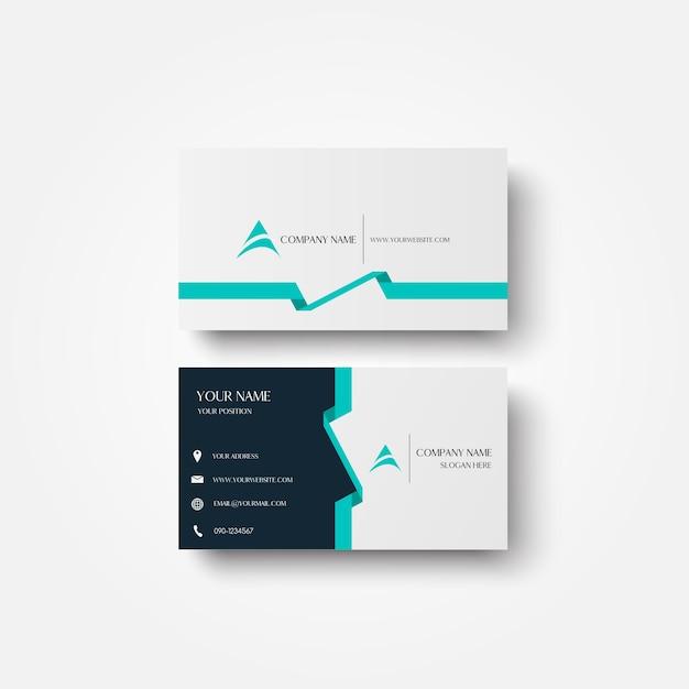 Modern business card design. Premium Vector