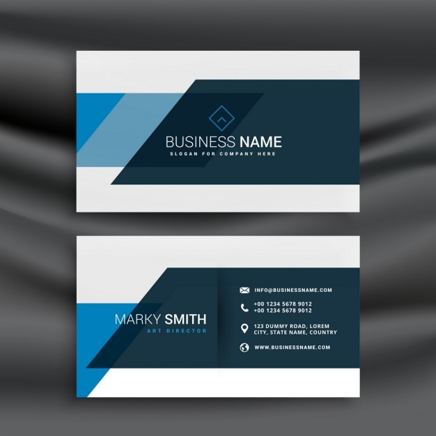 Modern business card in abstract style Vector