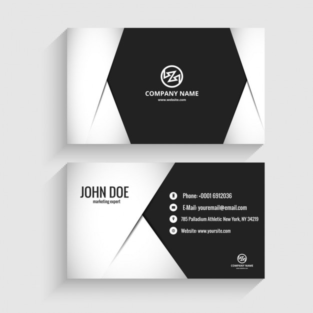 Modern business card in monochromatic style vector free download modern business card in monochromatic style free vector colourmoves