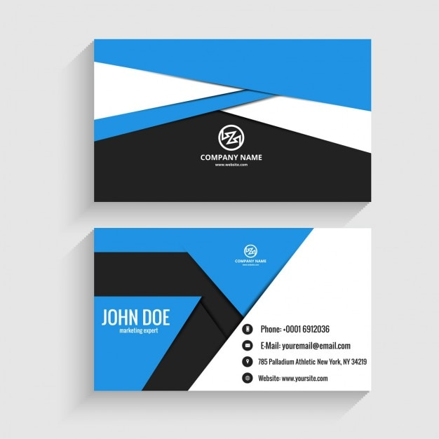 Modern Business Card In Origami Style Vector Free Download