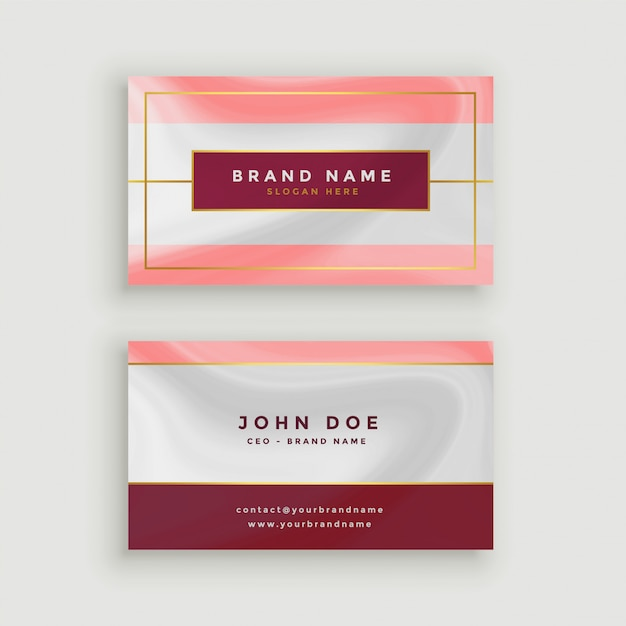Modern business card in marble style texture Free Vector
