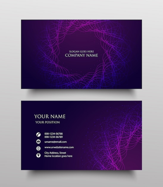 Premium Vector Modern Business Card Template Design Two Sided With Fluid Gradient On Purple Background,Narrow Shower Room Narrow Very Small Bathroom Ideas
