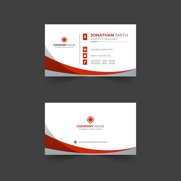 Modern business card template design with shapes Premium Vector