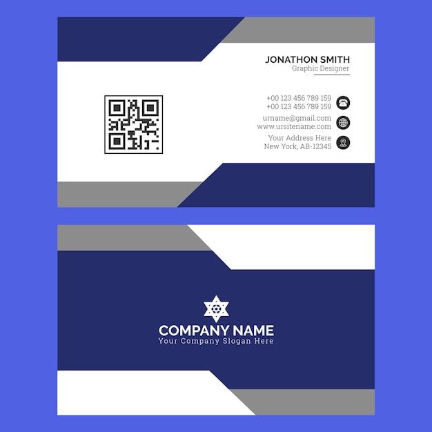 Modern business card template premium vector Premium Vector