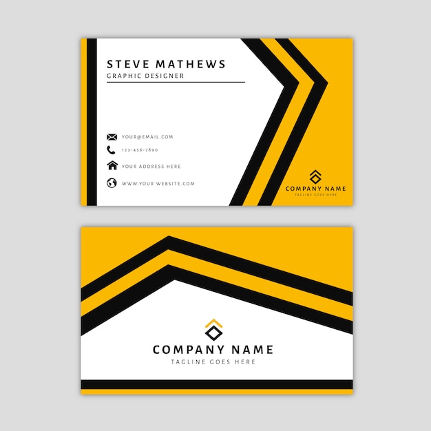 Modern business card template with abstract design Premium Vector