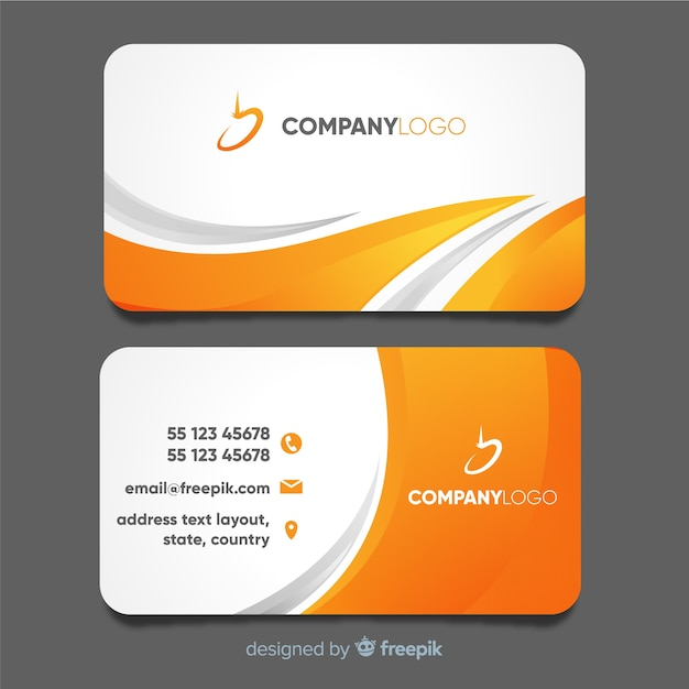 Modern Business Card Template With Abstract Design Vector Free