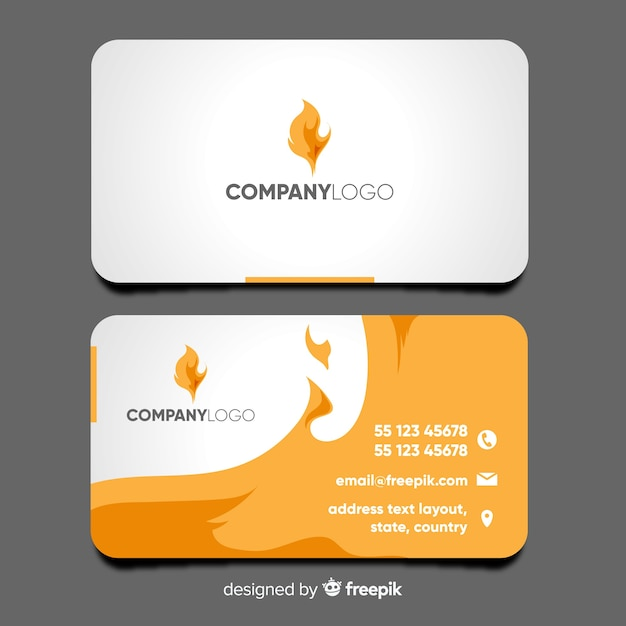 Modern business card template with abstract design vector free modern business card template with abstract design free vector accmission Gallery
