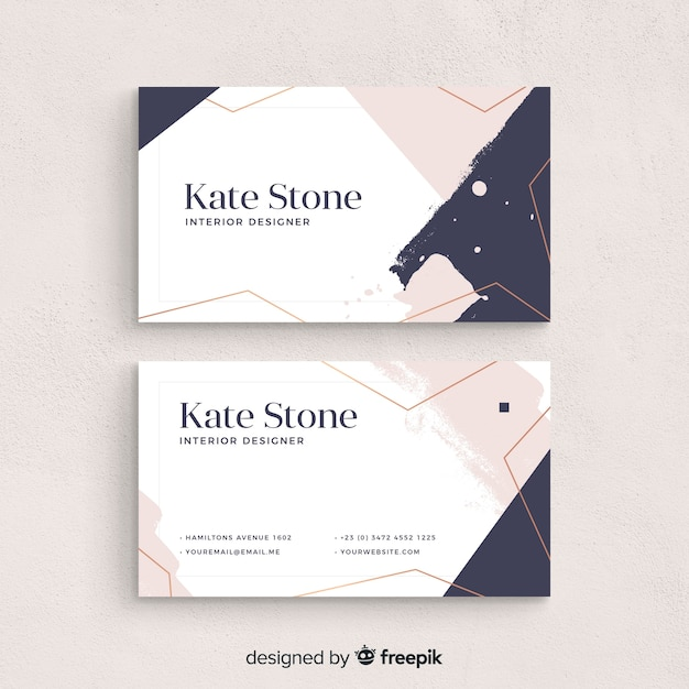 Modern Business Card Template With Colorful Style Free Vector