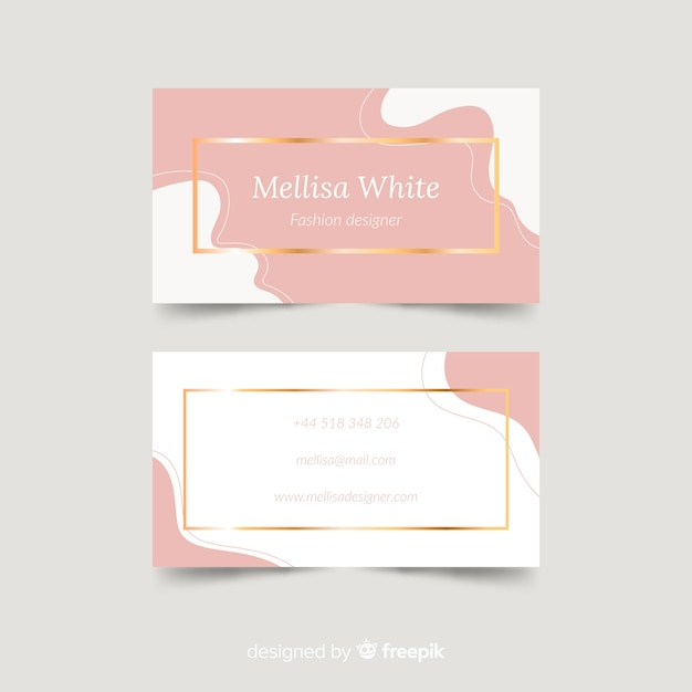 Freepik Modern Business Card Template With Elegant Style Vector For Free
