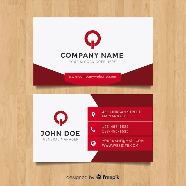 Modern Business Card Template With Flat Design Vector