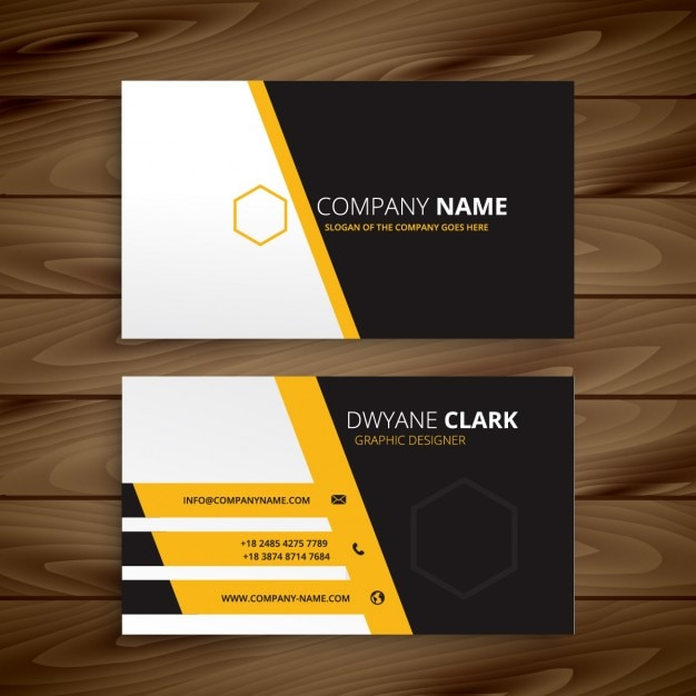 Modern business card template vector free download modern business card template free vector cheaphphosting Image collections